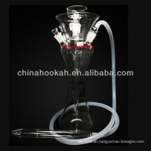 New design glass hookah shisha/nargile/water pipe/hubbly bubbly with good quality CH8005