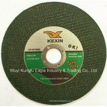 Disco de corte abrasivo de alta qualidade de 4 polegadas