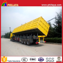 Dump Semi Trailer Side Tipper with 4-6PCS Bottom Hydraulic Cylinders
