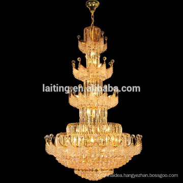 Large Big Hotel Crystal Stairs Pendant Hanging Chandelier Lamp Lighting