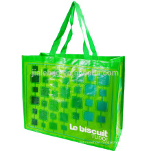 Simple foldable custom logo printed non wooven shopping bags