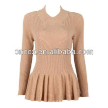 PK17ST010 High end sweater long sleeve peplum top