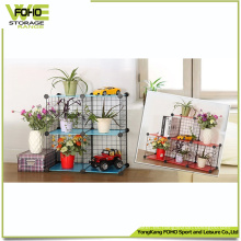 Wire Storage Cube Wholesale Metal Estante de metal con flores