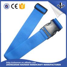 Custom Printed Polyester Nylon Webbing Luggage/Wood Strap Belt with Plastic Buckle