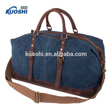 High quality canvas duffel bags with leather handle