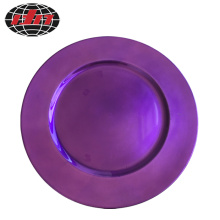 Light Purple Round Plastic Plate