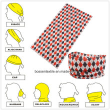 Máscara facial promocional de microfibra sem costura de estilo multifuncional para motociclistas