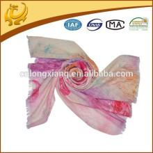 Alto Estilo Várias Cores E Design 100% Lã Digital Impresso Lenço Grande E Magro Lã Para Senhora