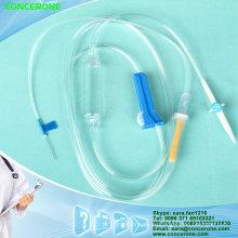Conjunto de infusión desechable para uso médico