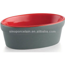 RED Ceramic Mini Pudding Bowl for BS12085C