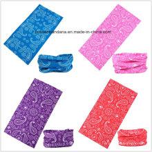 Diseño hecho a medida Impreso Poliéster Impreso Deportes UV Protección Bandana Buff