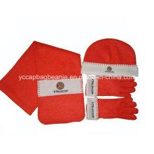 Набор для детей из флисовой шляпы с шарфом