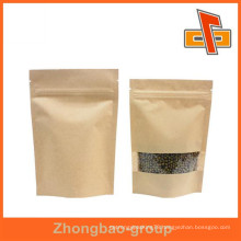 food safe biodegradable kraft paper bag with window for food
