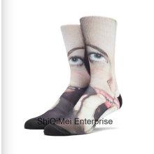 Großhandel maßgeschneiderte Sublimation drucken benutzerdefinierte Polyester Print Socken