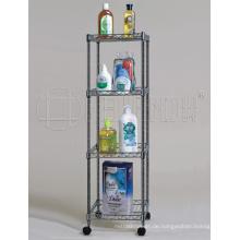 Quadratischer Chrom-Metalldraht-Badezimmer-Regal-Zahnstange, DIY u. K / D Art (CJ-C1037)