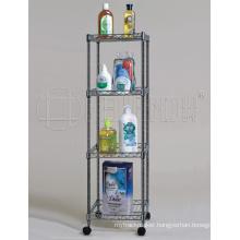 Square Chrome Metal Wire Bathroom Shelf Rack, DIY & K/D Style (CJ-C1037)