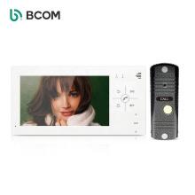 "Bcom customized door entry system IR LEDs doorbell camera 7"" sensor button 800TVL visual intercom"