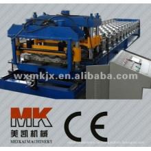 Glasierte Stahlfliesen-Metallrolle, die Maschine bildet