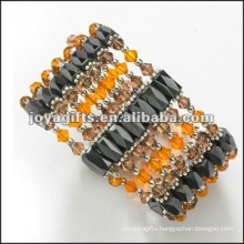 Magnetic Glass Beaded wrap Bracelets & Necklace 36""