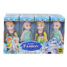 Подарок девушки 6 дюймов пластичная замороженная игрушка кукла (H10232033)
