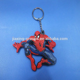 New design 3D keychain made of PVC rubber ,nice Spider-Man design,OEM orders are welcome