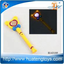 Venta al por mayor de plástico Mickey LED parpadea hasta palo varita mágica para niños