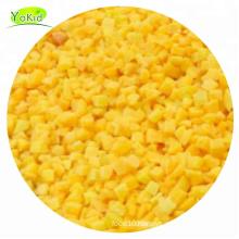 Bulk whole distribute supplier IQF frozen yellow peach dice