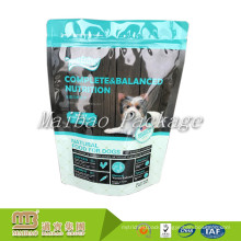 Laminated Material Customized Logo Aluminum Foil Plastic Resealable Stand Up Zip Lock Pet Food Packaging Wet Dog Food Pouch