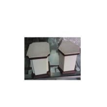 China Fábrica de exibição de jóias fornece exposição de vitrine de PU de couro (DS-WP2)