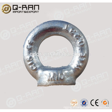 Acier au carbone de 580/582 gréement Type galvanisés DIN boulon et écrou