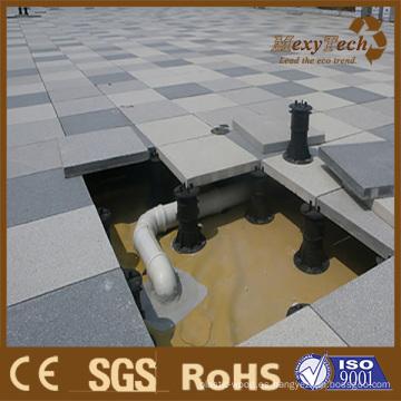 Pedestal ajustable de plástico de carga pesada para elevar el pedestal del piso