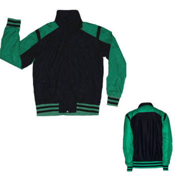Yj-3001 Green Black Microfiber Sports Sporty Jacket