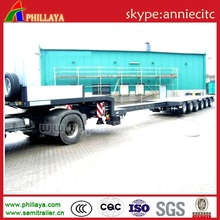 Multi-Axles Extendable Heavy Duty Equipment Semi Low Bed Trailer