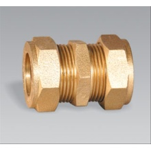 Brass pipe fitting brass Compression Coupling