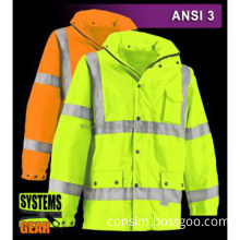 300D oxford fabric reflective safety workwear, reflective clothes