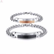 desconto novo design de aço inoxidável fabricante de jóias pulseira