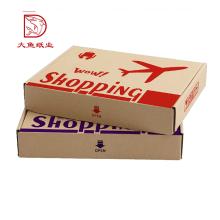 Usine direct nouveau design papier ondulé shopping emballage boîte plate