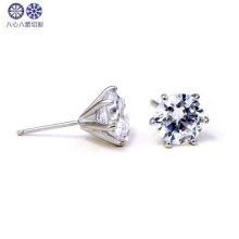 wholesale sterling silver cz stud earrings