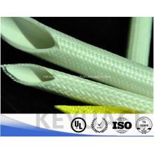 Gaine de revêtement de caoutchouc de silicone d'isolation de fibre de verre