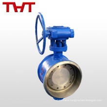 triple offset bw butt welding end shut off butterfly valve
