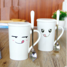 Customized Logo Couples Cup Porcelain Cup