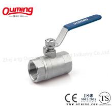 Válvula de esfera PC 316/304 em aço inoxidável