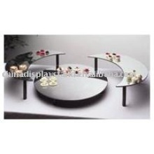 Black Acrylic Food Display Tray/ pastry display trays