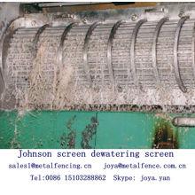 Cylindre d'écran Johnson écran de traitement des aliments d'égouttage écran
