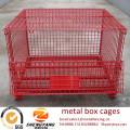 Grand chariot élévateur disponible conteneurs en acier de transport chargement 250-2500 kg entrepôt cages galvanisé anticorrosion boîte en métal cages