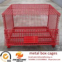 Große Gabelstapler verfügbar Transport Stahlcontainer laden 250-2500kg Lagerkäfige galvanisierte Anti-Korrosion Metall-Box Käfige