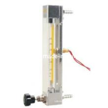 Medidor de fluxo de tubo de vidro com interruptor de limite de alarme - Rotameter de tubo de vidro