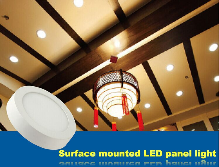 led surface mounted round panel light