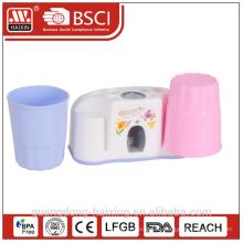 Пластиковый auto-зубная паста соковыжималка w/две чашки