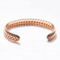 New Wheat Design Pink Gold Open manchet armband